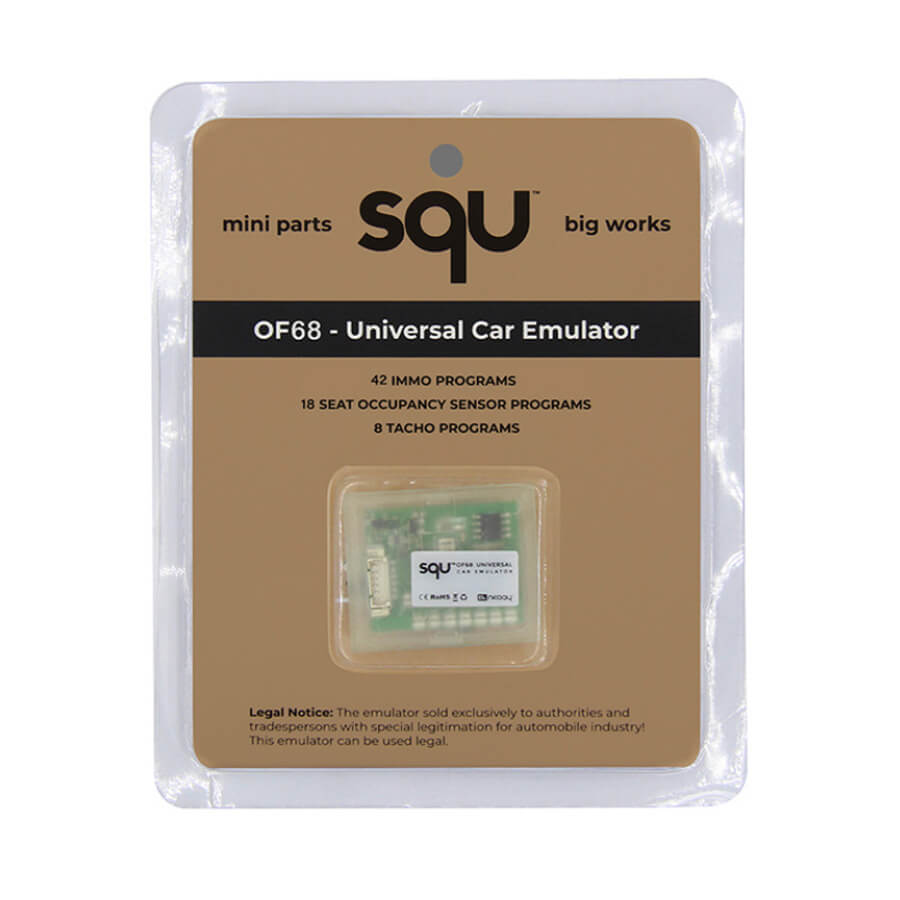 SQU OF68 Universal Car Emulator Signal Reset Immo Programs Place ESL  Diagnostic Seat Occupancy Sensor Tool